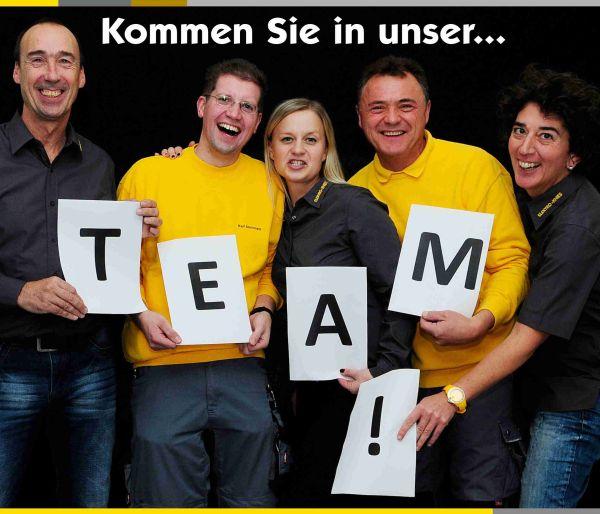 Kommen Sie in unser Team! Bild zeigt Auswahl der Teammitglieder